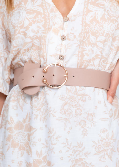 Aiden Belt - Nude