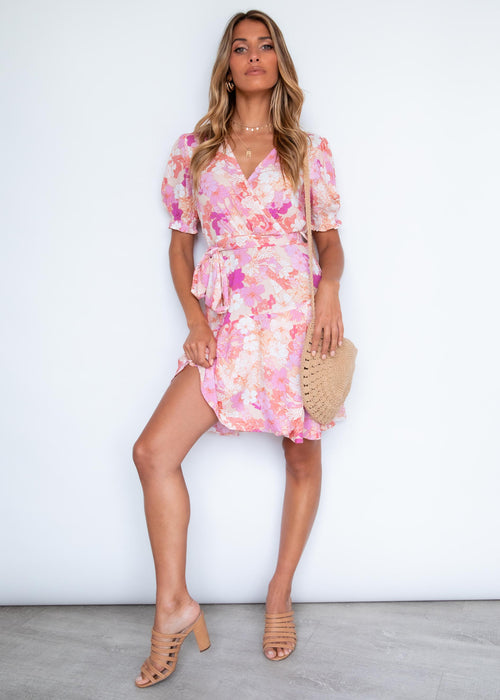 Sharona Dress - Ballerina Rose