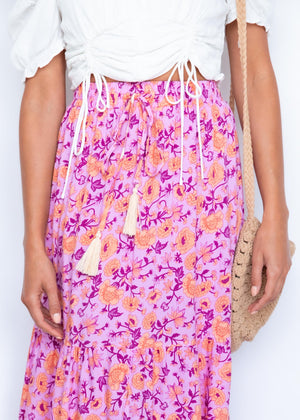 Your Song Maxi Skirt - Tropicana Pink
