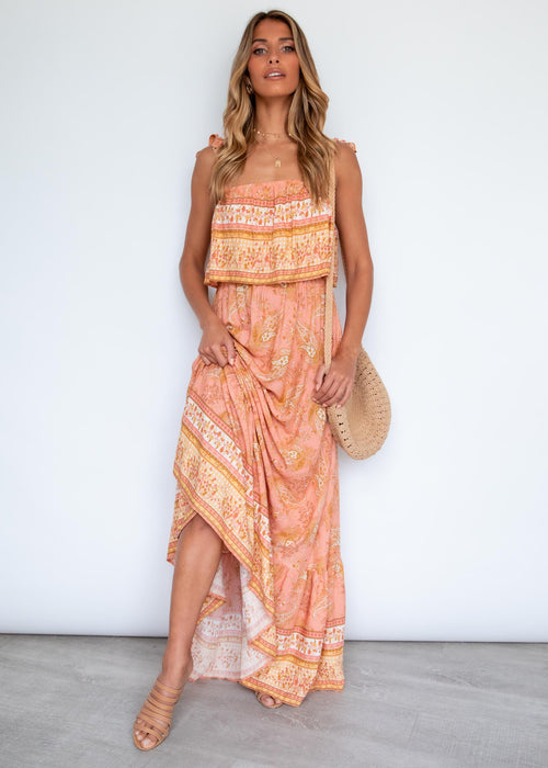 Eliza Maxi Dress - Terrecotta Paisley