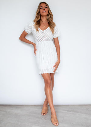 Lovely life Crochet Dress - Off White
