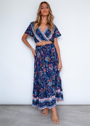 Intransient Maxi Dress - Night Garden