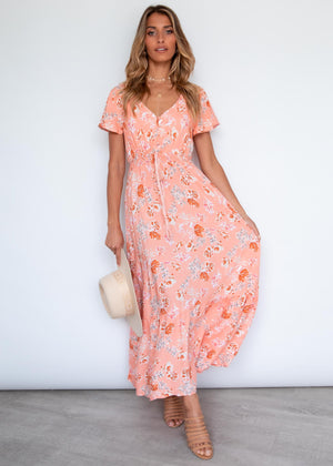 Florentina Maxi Dress - Peach Blossom