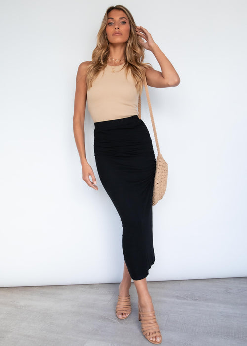 Harna Midi Skirt - Black