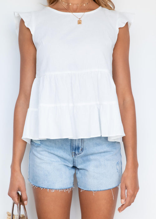 Evalyn Blouse - Off White