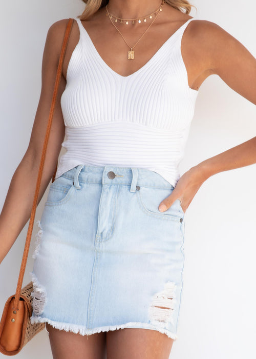 Quora Knit Cami - Off White