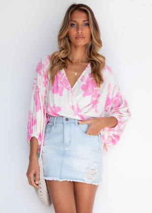 Ellis Blouse - Hawaii Pink