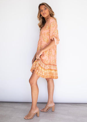 Tylah Tunic Dress - Terracotta Paisley