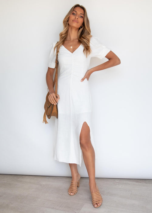 Yoneko Midi Dress - White