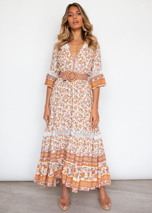 Hold You Maxi Dress - Vintage Paisley