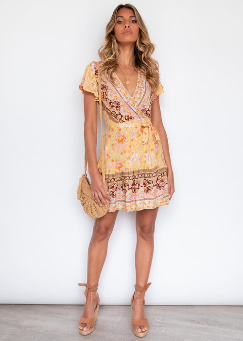 Paxton Wrap Dress - Golden Horizons