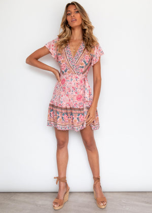 Paxton Wrap Dress - Blush Floral