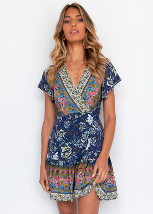 Paxton Wrap Dress - Starry Night