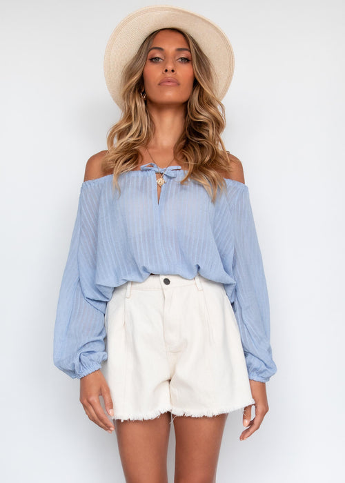 Celinne Blouse - Powder Blue