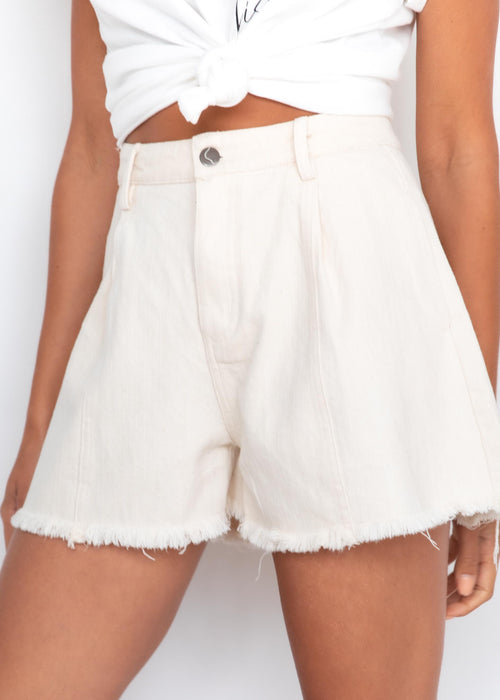 Barefoot Denim Shorts - Cream