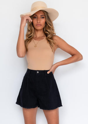 Barefoot Denim Shorts - Black