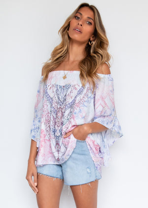 Shreya Off The Shoulder Blouse - Lilac Romance