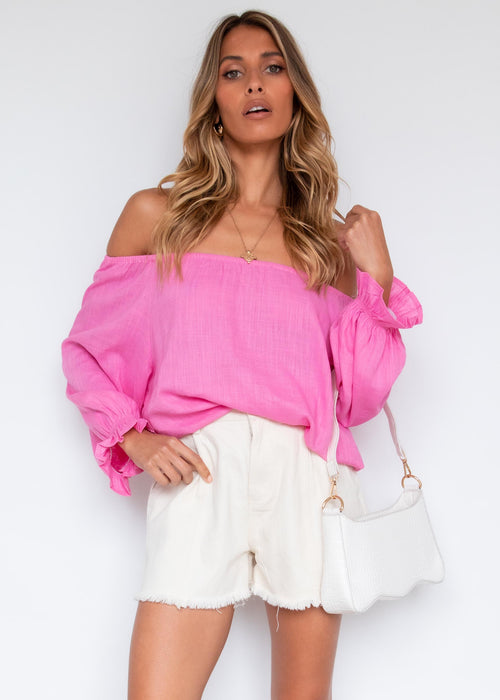 Ramina Off Shoulder Blouse - Pink