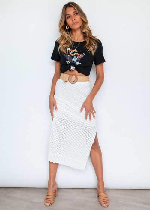 Zaylee Crochet Skirt - Off White