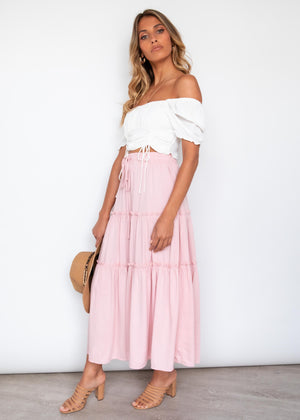 Sylar Maxi Skirt - Blush