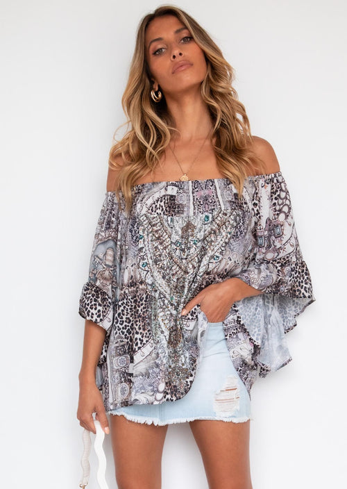 Shreya Off The Shoulder Blouse - Bengal