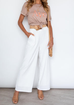 Taabu Linen Pants - Off White