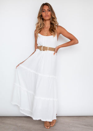 Neveah Maxi Dress - Off White