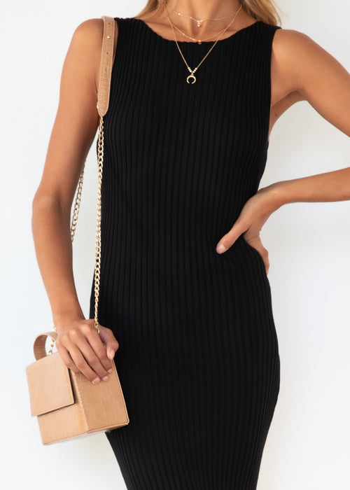 Sonder Knit Midi Dress - Black