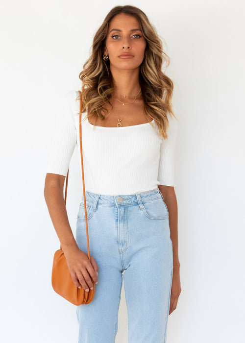 Rosemarie Knit Top - Off White