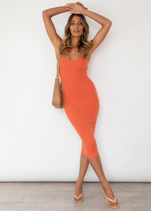 Sydney Knit Midi Dress - Sunset