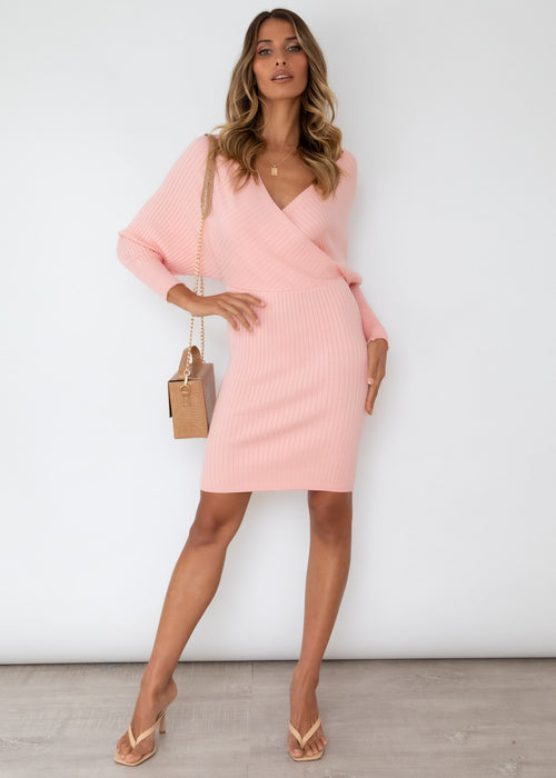 Perri Knit Dress - Blush