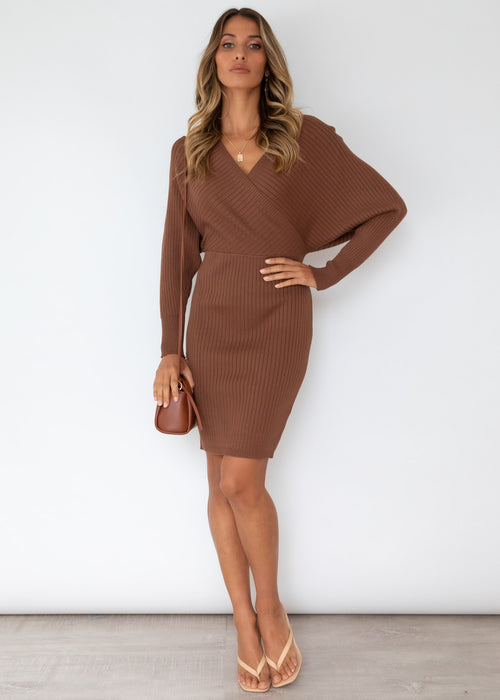 Perri Knit Dress - Chocolate