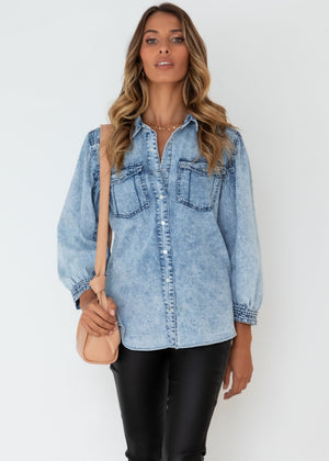 Maelle Denim Shirt - Acid Wash