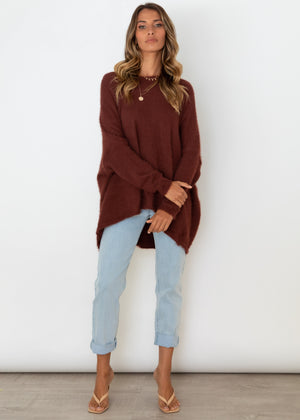 Emilee Sweater - Chocolate