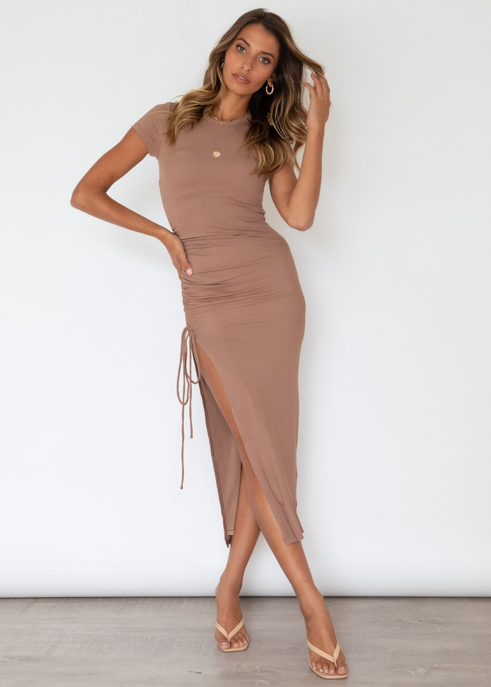 Keelie Maxi Dress - Tan