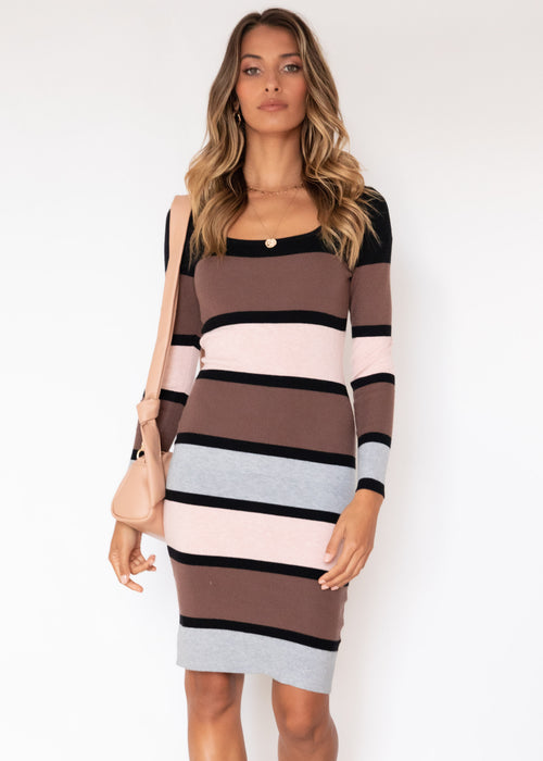 Naveena Knit Dress - Neopolitan