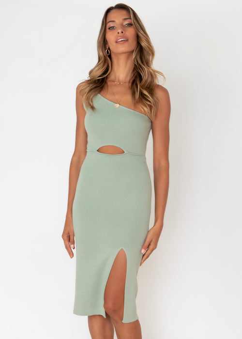 Cintra Knit Midi Dress - Sage