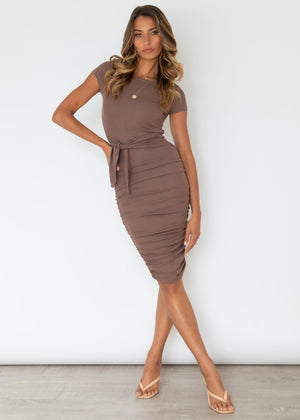 Anja Tee Dress - Chocolate