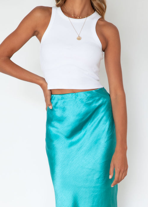 Tennessee Midi Skirt - Teal