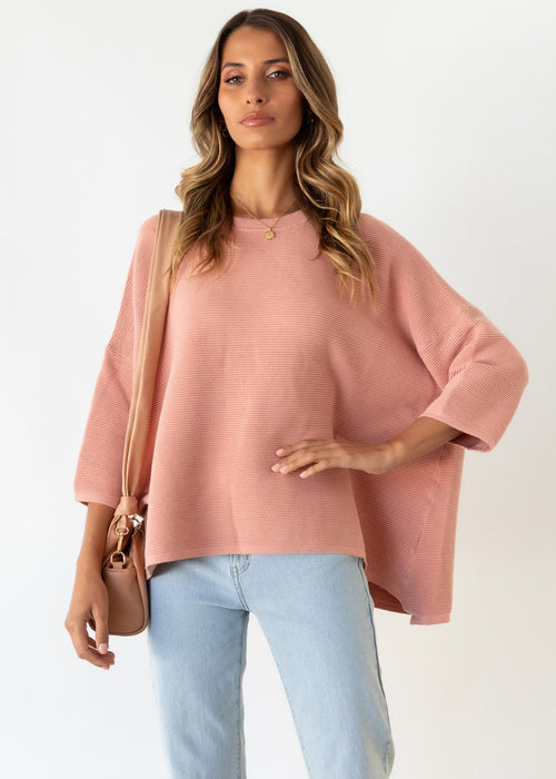Allira Sweater - Peach