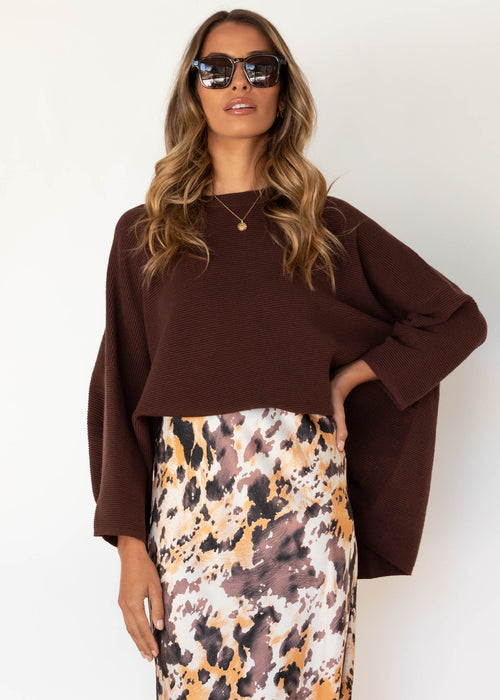 Allira Sweater - Chocolate