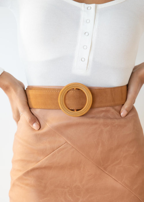 Rexah Suede Look Belt - Tan