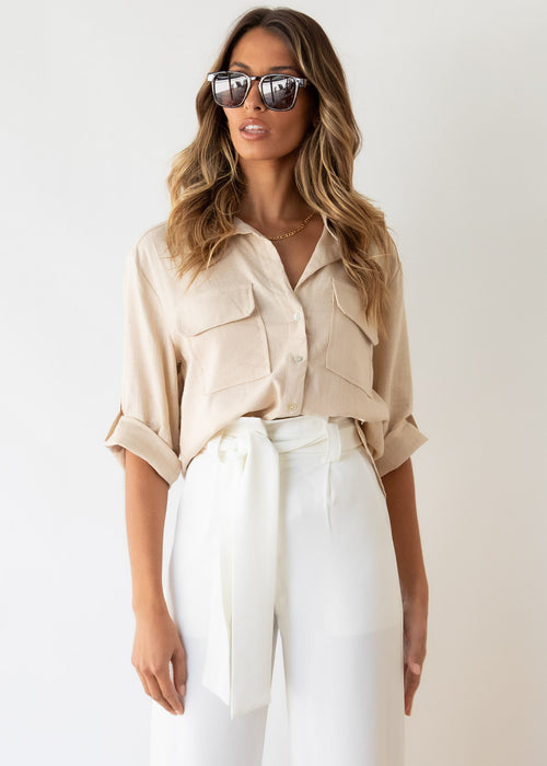 Big Reputation Shirt - Beige