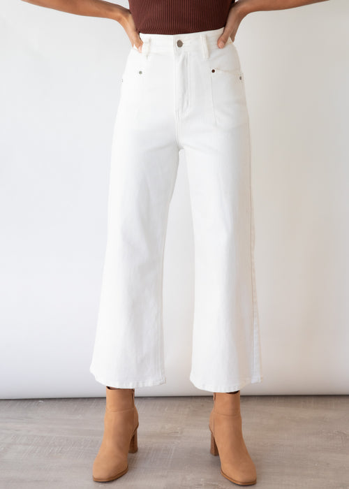 Ryleigh Stretch Jeans - Off White