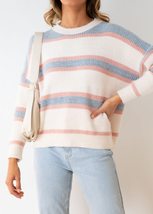 Open Roads Sweater - Blue Stripe