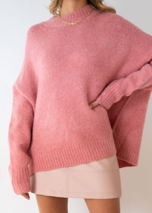 Young Love Sweater - Blush
