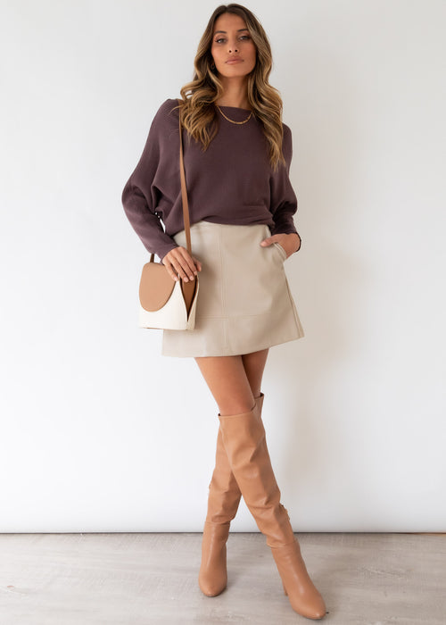 Trudie Sweater  - Chocolate