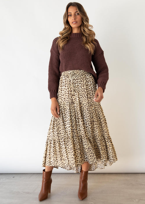 Expectations Maxi Skirt - Alexia Leopard