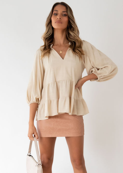 First Move Blouse - Oatmeal