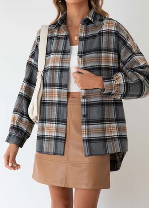 Chester Shirt - Charcoal Check